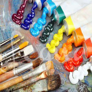 رنگهای مصرفی در تکنیک آبستره و نقاشی روی بوم