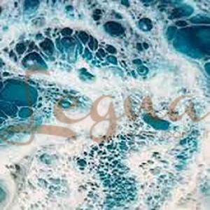 ایجاد طرح موج دریا با تکنیک فلوید آرت توسط لگنا